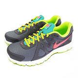 (女)NIKE WMNS NIKE REVOLUTION 2 慢跑鞋 深灰/螢光綠-554900026
