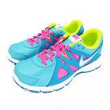 (大童)NIKE REVOLUTION 2 GG 慢跑鞋 藍/螢光粉紅/螢光綠-555090402