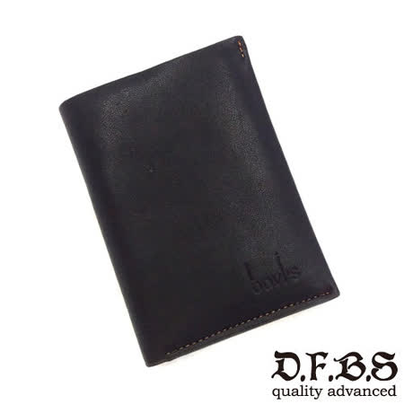 DF BAGSCHOOL皮夾 - 韓系型男必備款皮革式卡夾鑰匙包-黑色