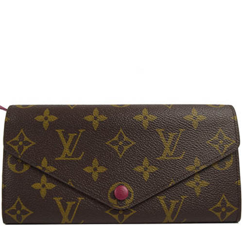 Louis Vuitton LV M60708 JOSEPHINE 經典花紋三折活動零錢長夾.紫.預購