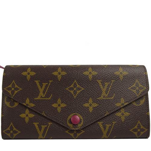 Louis Vuitton LV M60708 JOSEPHINE 花紋三折活動零錢長夾.