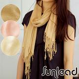 Sunlead 遠紅外線保暖防寒玫瑰織紋長版緹花披肩/圍巾