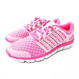 (女)ADIDAS CC CRAZY W 慢跑鞋 粉紅/白-M25989