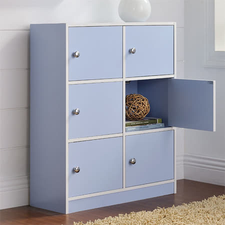 【Yomei】DIY輕鬆收納六門櫃/書櫃/置物櫃/收納櫃(藍色)