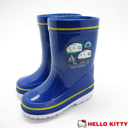 童鞋精靈-新幹線印花雨鞋款(日本製)(KL38463藍#14cm~16cm)