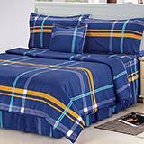 【真愛永恆】高質感天絲絨雙人六件式舖棉兩用被床罩組