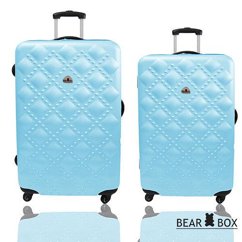 BEAR BOX時尚買 網站香奈兒系ABS霧面輕硬殼行李箱兩件組24+20吋