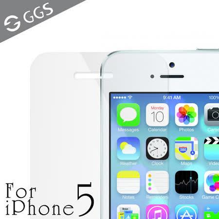 GGS iPhone 5/5S/5C金鋼防爆透明玻璃靜電吸附保護貼