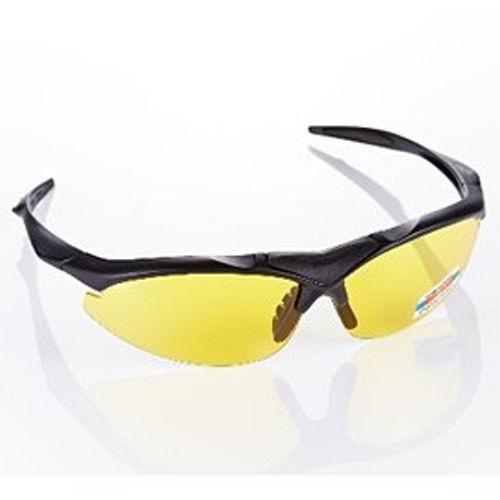 視鼎Z~POLS 消光黑太空纖維TR90 輕量框體 搭夜用增光黃抗UV400 偏光太陽眼鏡