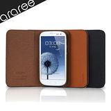 araree Aero Flip Samsung Galaxy S3側翻式皮革質感保護殼-附保護貼