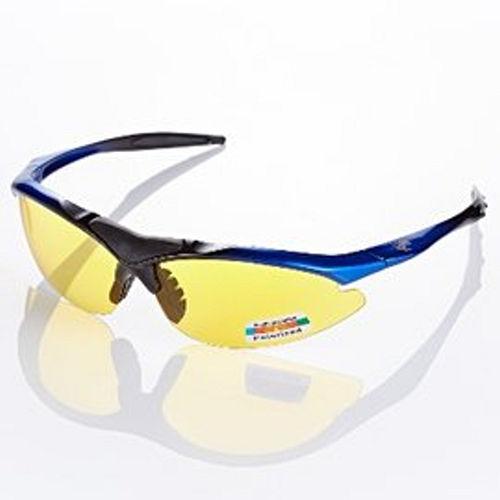 視鼎Z~POLS 黑藍漸層太空纖維TR90 輕量框體 搭夜用增光黃抗UV400 偏光太陽眼