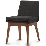 【椅吧】日系簡約舒適實木布面餐椅