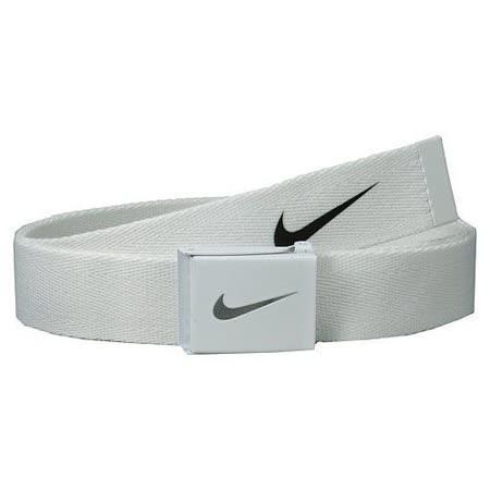 【Nike】2015金屬扣旋風標誌棉軟織帶白色皮帶【預購】