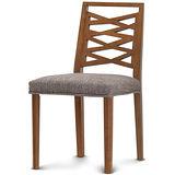 【椅吧】北歐設計椅背舒適實木布面餐椅