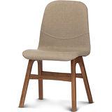 【椅吧】北歐生活質感實木布面餐椅