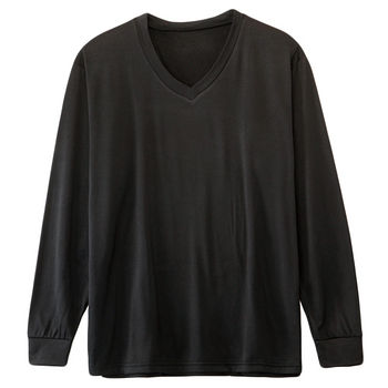 男士刷毛V領保暖衣(M~XL)