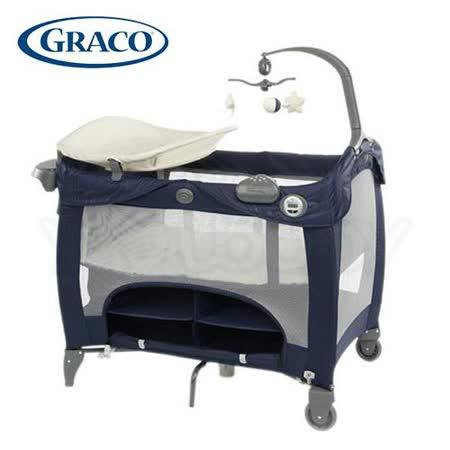 GRACO Contour Prestige多功能舒適嬰幼兒電動遊戲床-時尚藍