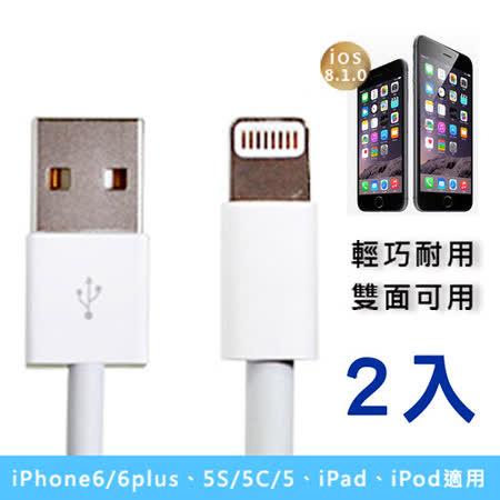 Apple iPhone5 Lighting 新版USB傳輸線(2入)