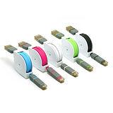 渦捲式Micro USB / Apple Lightning 8pin雙用傳輸充電線