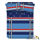 【Arnold Palmer雨傘牌】爵士格調-40紗精梳純棉床包被套雙人加大四件組.