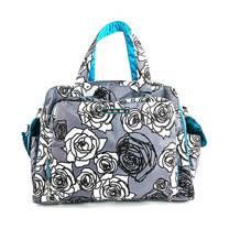【美國JuJuBe媽咪包】BePrepared手提/肩背包-Charcoal Roses 凡爾賽花園