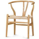 【椅吧】復古鄉村風實木編織座面餐椅