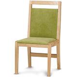 【椅吧】明亮北歐生活實木布面餐椅