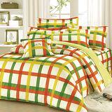 【Arnold Palmer雨傘牌】田園交響曲-40紗精梳純棉床罩雙人加大七件組.