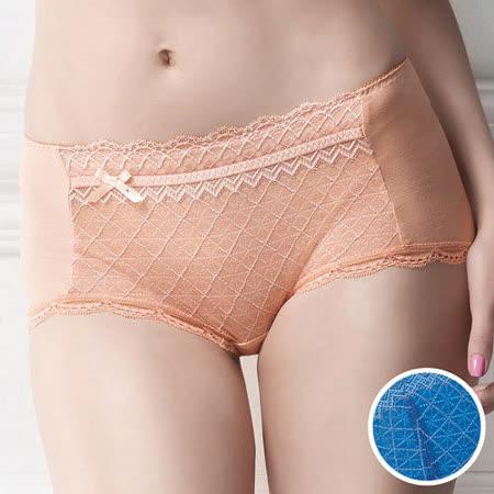 【華歌爾】極塑Double Shape系列M-LL中低腰平口褲(眼影藍)