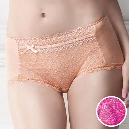 【華歌爾】極塑Double Shape系列M-LL中低腰平口褲(唇膏紫)