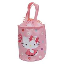 Hello Kitty圓形束口便當袋-粉紅色