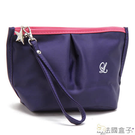 【MOROM】蜜糖甜心配色化妝包(紫色)new822