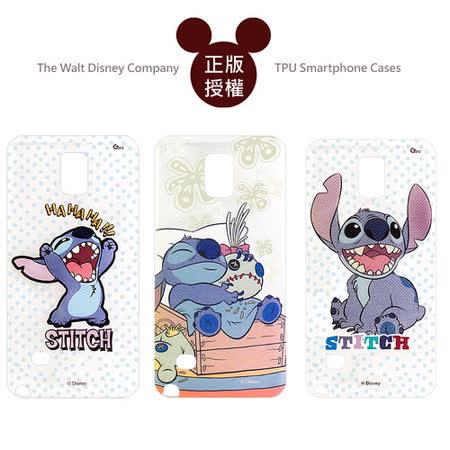 迪士尼授權正版 Disney 三星 Samsung Galaxy Note 4 透明彩繪軟式保護殼 手機殼 (史迪奇款)
