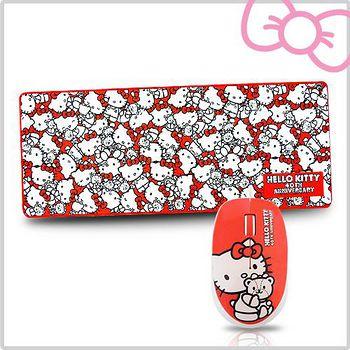 Hello Kitty Hello Kitty 40週年限量紀念 滑鼠&滑鼠墊禮盒組