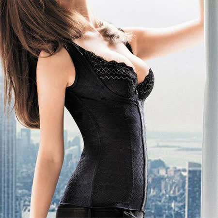 【華歌爾】X極塑Double Shape系列64-82舒壓塑身衣(眼線黑)