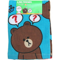 【波克貓哈日網】TOKYO LINE FRIENDS◇2枚入長巾◇《 34x75 cm 》熊大