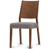 【椅吧】歐風簡約舒適實木布面餐椅