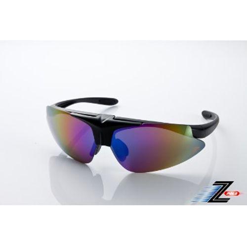 ~視鼎Z~POLS~ 可掀 可配度  眼鏡! 七彩電鍍PC~UV4鏡片,送 盒! 霧面黑
