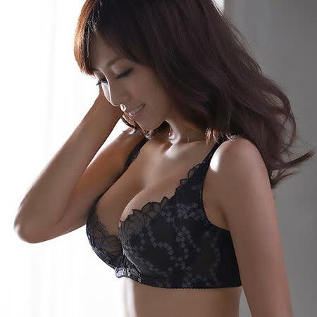 【蕾黛絲】輕透薄襯 小妹大D-F罩杯內衣(子夜黑)
