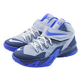 (大童)NIKE SOLDIER VIII BG 籃球鞋 灰/藍-653645011