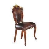 伯爵法式胡桃金邊餐椅
