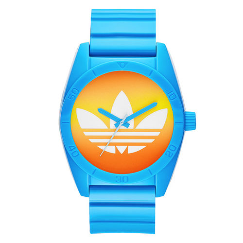 adidas 街潮繽紛三葉休閒腕錶-漸層x藍