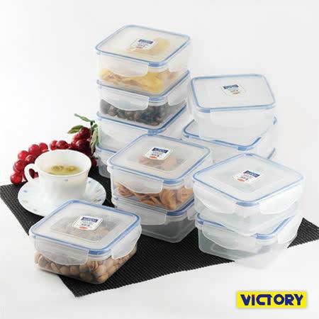 【VICTORY】550ml方形扣式食物密封保鮮盒(12入組)
