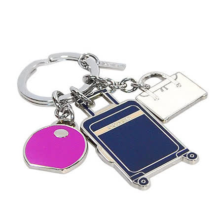 COACH拉槓行李箱造型串飾鑰匙圈