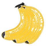 COACH黃色漆皮香蕉串造型零錢包
