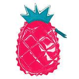 COACH桃紅漆皮鳳梨造型零錢包