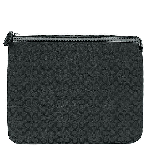 COACH 新款黑色C Logo iPad保護套/收納包