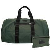 COACH墨綠尼龍攜帶式手提/肩背旅行袋(超大)