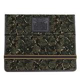 COACH綠色叢林風C Logo真皮飾邊iPad2保護套