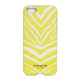 COACH新款芥末黃斑馬紋 iPhone5手機保護殼